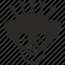 actor, clown, face, joker, mask, royal, smile icon
