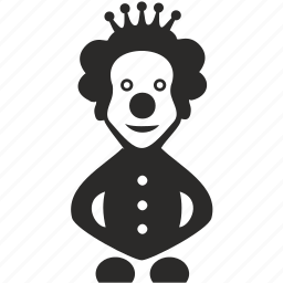 actor, clown, crown, game, smile, toy icon