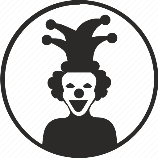 avatar, clown, hero, joker, round icon