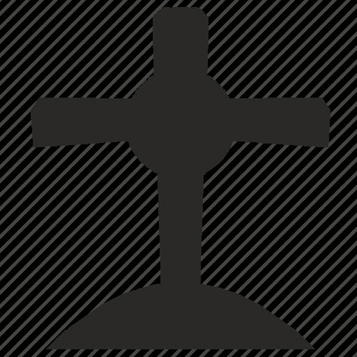 cross, grave, halloween, head icon