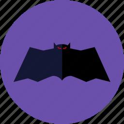 bat, halloween, night, purple night icon