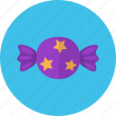candy, halloween, party, purple, star icon