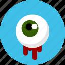 ghost, eye, horror, halloween, spooky icon