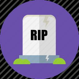 gravestone, halloween, haunted, headstone, horror, spooky icon