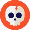 halloween, horror, party, skull, skullcap icon
