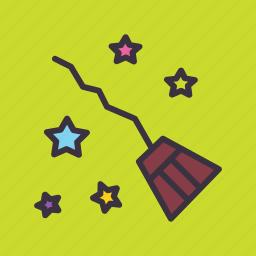 broom, halloween, magic, witchcraft icon