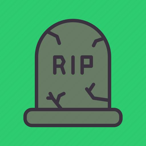 death, funeral, grave, gravestone, graveyard, rip icon