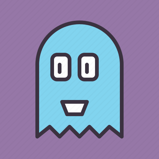 friendly, ghost, halloween icon