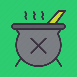 cauldron, halloween, magic, poison, potion, stew, witchcraft icon