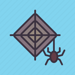evil, halloween, horror, insect, scary, spider, web icon