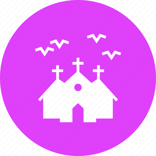 bats, halloween, haunted, horror, house, mansion, night icon
