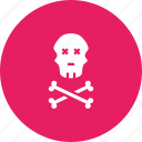 caution, crossbones, danger, jolly, pirate, roger, skull icon
