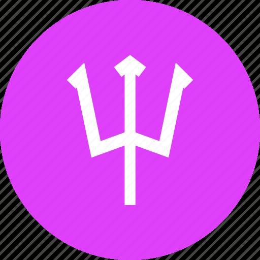 devil, halloween, neptune, polearm, spear, trident, weapon icon