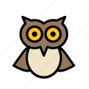animal, bird, celebration, festival, halloween, owl icon