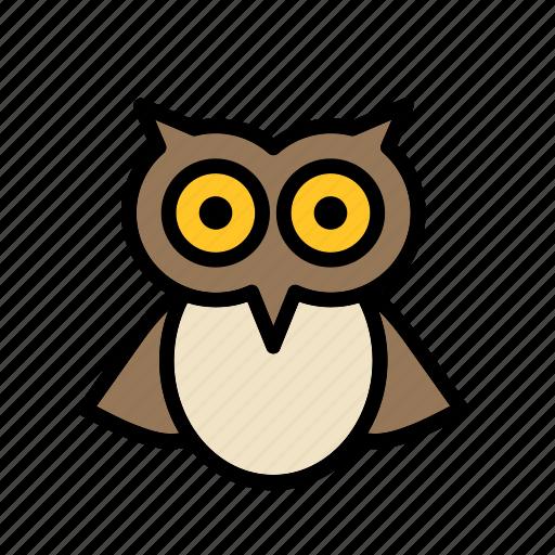 animal, bird, celebration, festival, halloween, owl icon