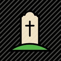 cemetery, grave, tomb icon