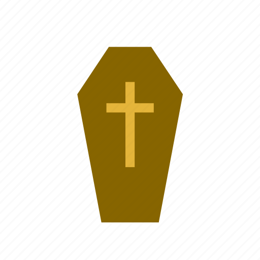 burial, casket, celebration, coffin, cross, festival, halloween icon