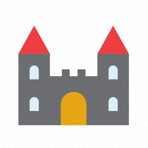 building, castle, celebration, festival, fortress, halloween icon