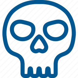 bone, cranium, dead, death, halloween, skeleton, skull icon