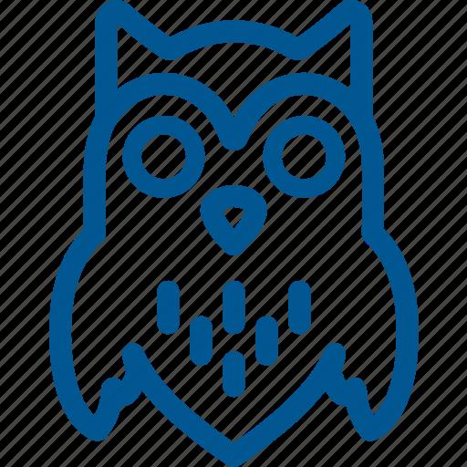 bird, halloween, owl icon