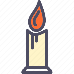burn, candle, fire, flame, halloween, light icon