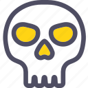 bone, cranium, dead, death, halloween, skeleton, skull icon