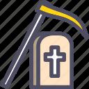 grave, gravestone, halloween, headstone, scuthe, tomb, tombstone icon