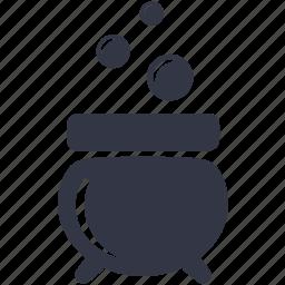 bubbles, cauldron, halloween, potion icon