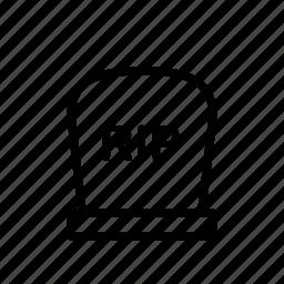 dead, evil, grave, halloween, horror, scary icon