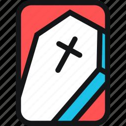 cards, cemetery, coffin, cross, dead, death icon