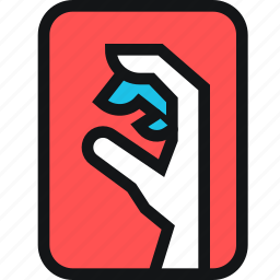 cards, dead, grab, hand, zombie icon