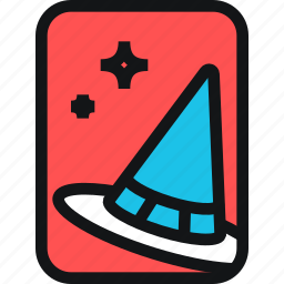 cards, cone, hat, magic, witch, witchcraft icon