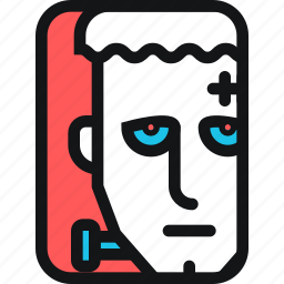 cards, corpse, dead, death, face, frankenstein, zombie icon