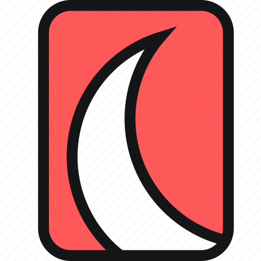 cards, crescent, horn, moon, night icon