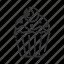 cupcake, eye, halloween, horror icon
