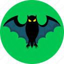 bat, halloween, night, scary, spooky icon
