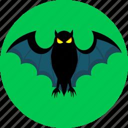 bat, halloween, night, scary, spooky icon