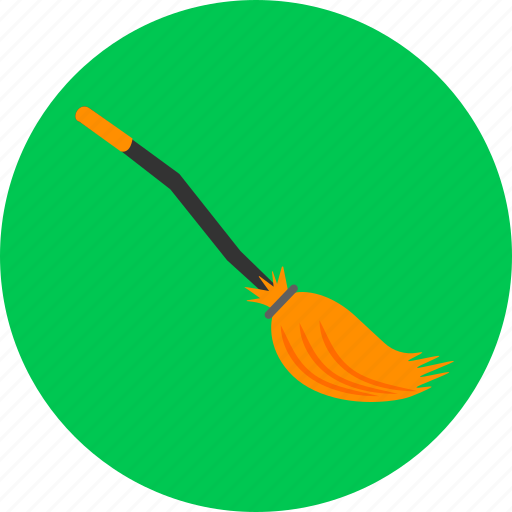 broom, magic, sweep, witch, witch's broom icon