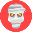 mummy, head, mask, face, zombie, preserved, expression icon