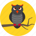 halloween, night, nocturnal, owl, raptor, scary, superstition icon