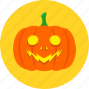 face, halloween, jack o'lantern, light, pumpkin, smile icon