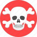 bone, dead, horror, scary, shell, skeleton, skull icon