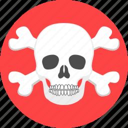 bone, dead, horror, scary, shell, skeleton, skull icon