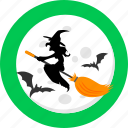 broom, evil, halloween, night, sorceress, spooky, witch icon