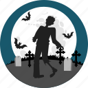 grave, halloween, horror, monster, night, undead, zombie icon