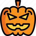 ghost, halloween, head, night, party, pumpkin icon