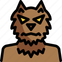 ghost, halloween, monster, night, party, werewolf icon