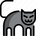 animal, cat, ghost, halloween, night, party icon
