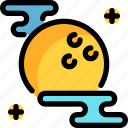 full, ghost, halloween, moon, night, party icon