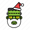 avatar, face, frankenstein, halloween, xmas icon